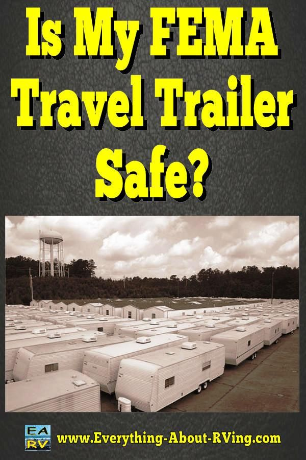 Here is our answer to: Is My FEMA Travel Trailer Safe?  So to answer your question; Am I safe? My answer is...  Read More: http://www.everything-about-rving.com/is-my-fema-travel-trailer-safe.html HAPPY RVING! #rving #rv #camping #leisure #outdoors #rver #motorhome #travel