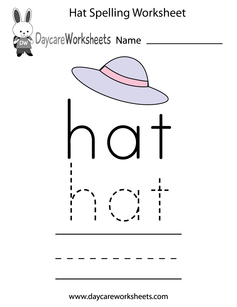 worksheet Create Tracing Worksheets learn and practice how to spell the word hat using this printable preschool worksheet