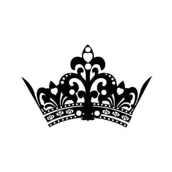 Princess Crown Decal Wall Sticker Removable Wall Art (22\