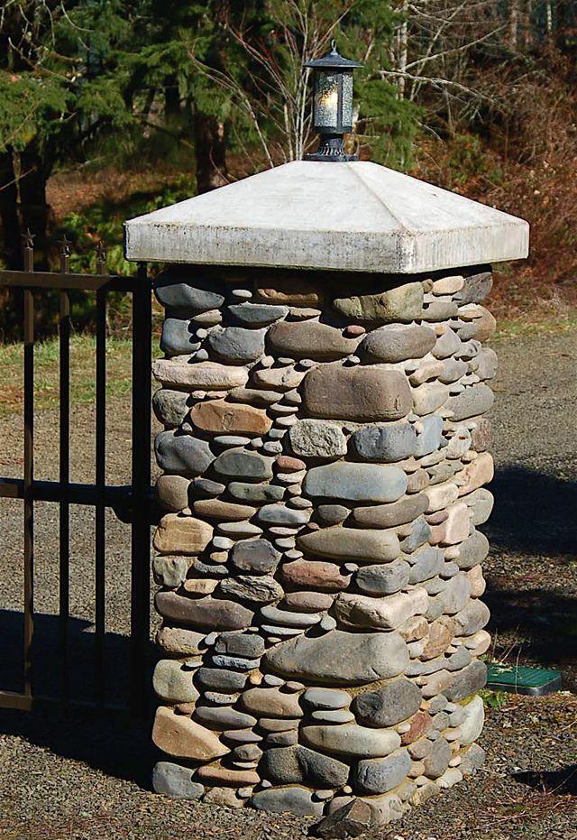 how to make stone brick pillars