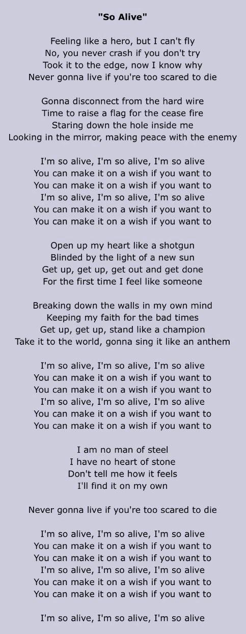 So Alive Lyrics Goo Goo Dolls Alive Lyrics Goo Goo Dolls Alive Song