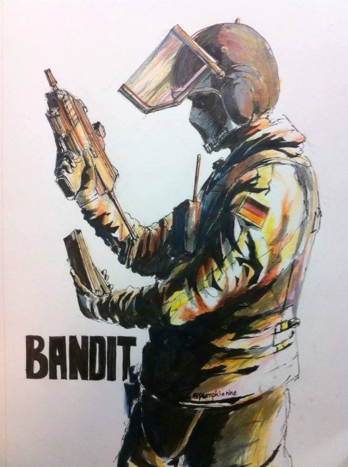 Bandit With Images Rainbow Six Siege Art Star Wars Drawings
