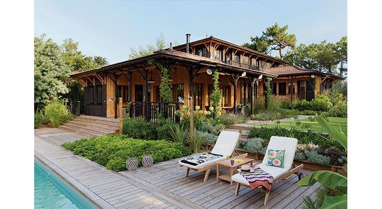D co une maison en bois de r ve l 39 inspiration coloniale coin piscine pinterest maison for Interieur maison coloniale