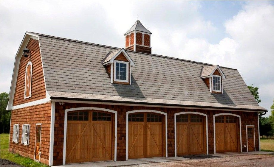 4 Bay Garage With Loft 62468dj: 4-bay Equipment Garage With Workshop.... Every Man's Dream