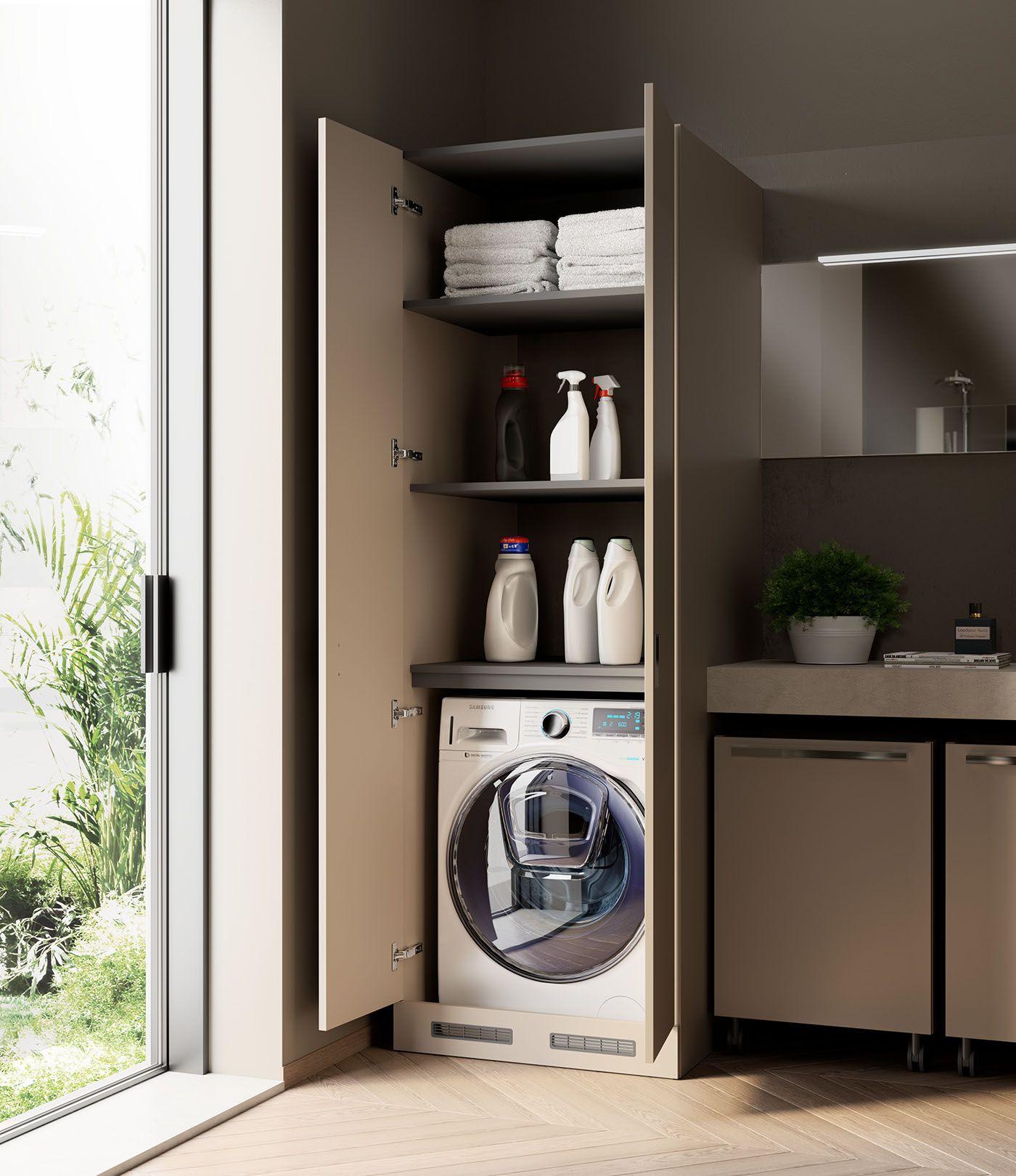Washing Machine In Kitchen Design: Bathroom Rendering On Behance