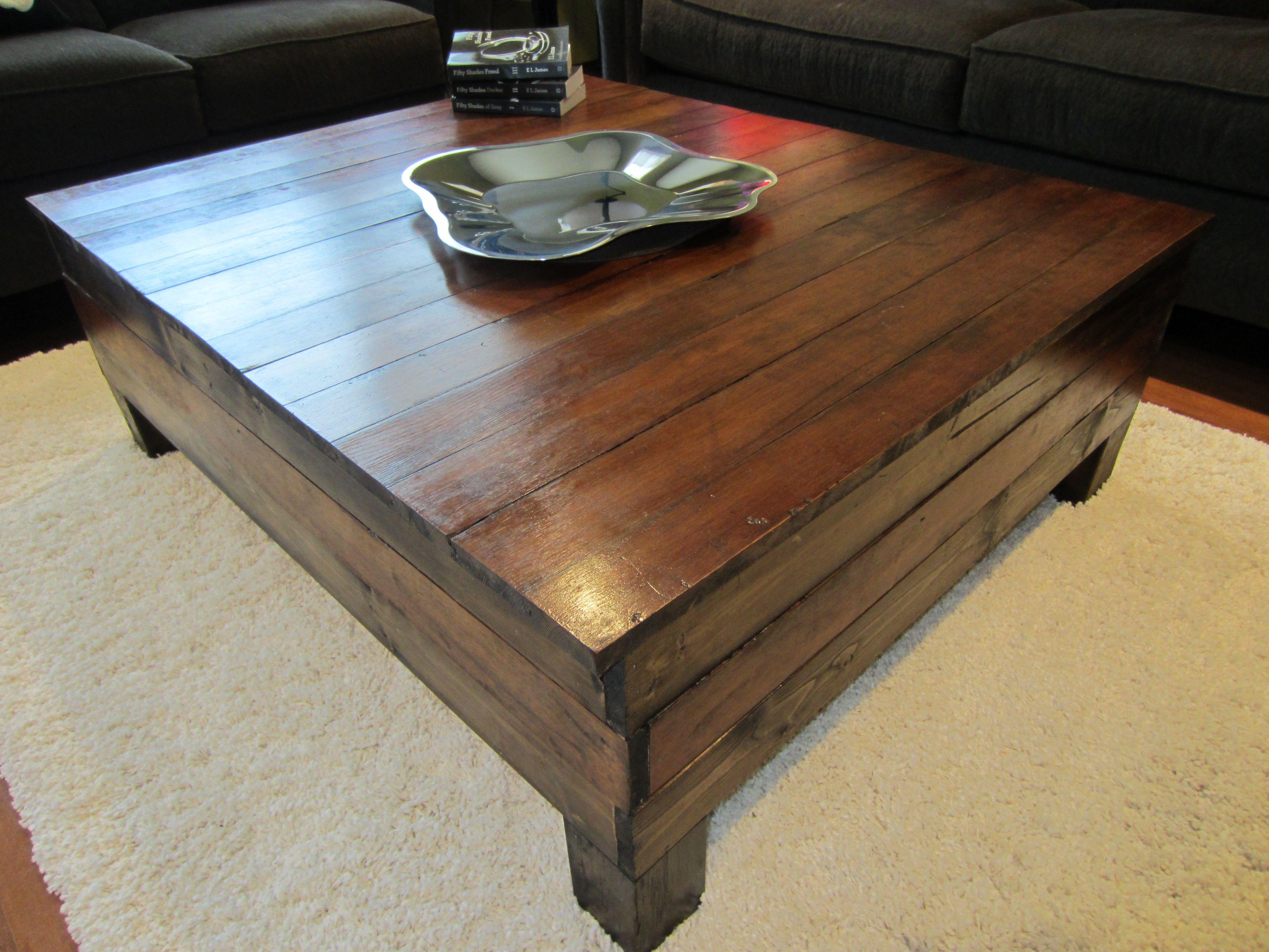 Coffee Table Made From 100 Year Old Hardwood Floor Hardwood