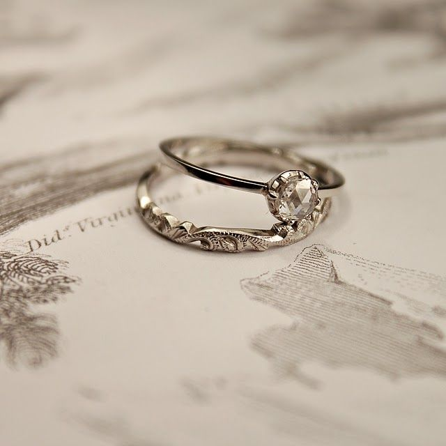 Simple And Delicate So Pretty I Love It S Gorgeous The Wedding Band Too