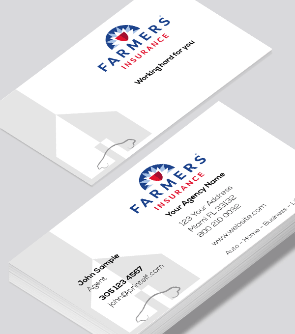 Farmers Insurance Business Card Modern Design In 2020 Modern Business Cards Design Farmers Insurance Business Insurance