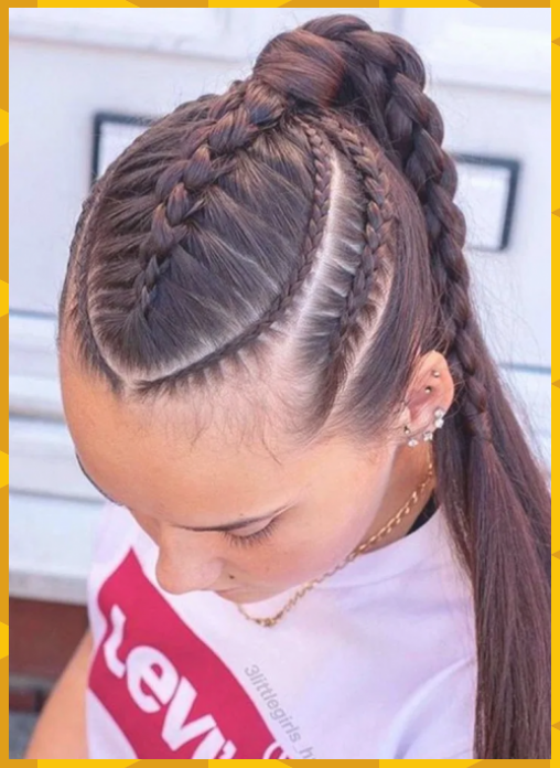 20 Tresses Coiffure Et Quiffed Ponytail Hairstyle Ideas 8 Braid Hairstyle De Braid Coiffure Hairs Braids For Long Hair Braided Hairstyles Hair Styles