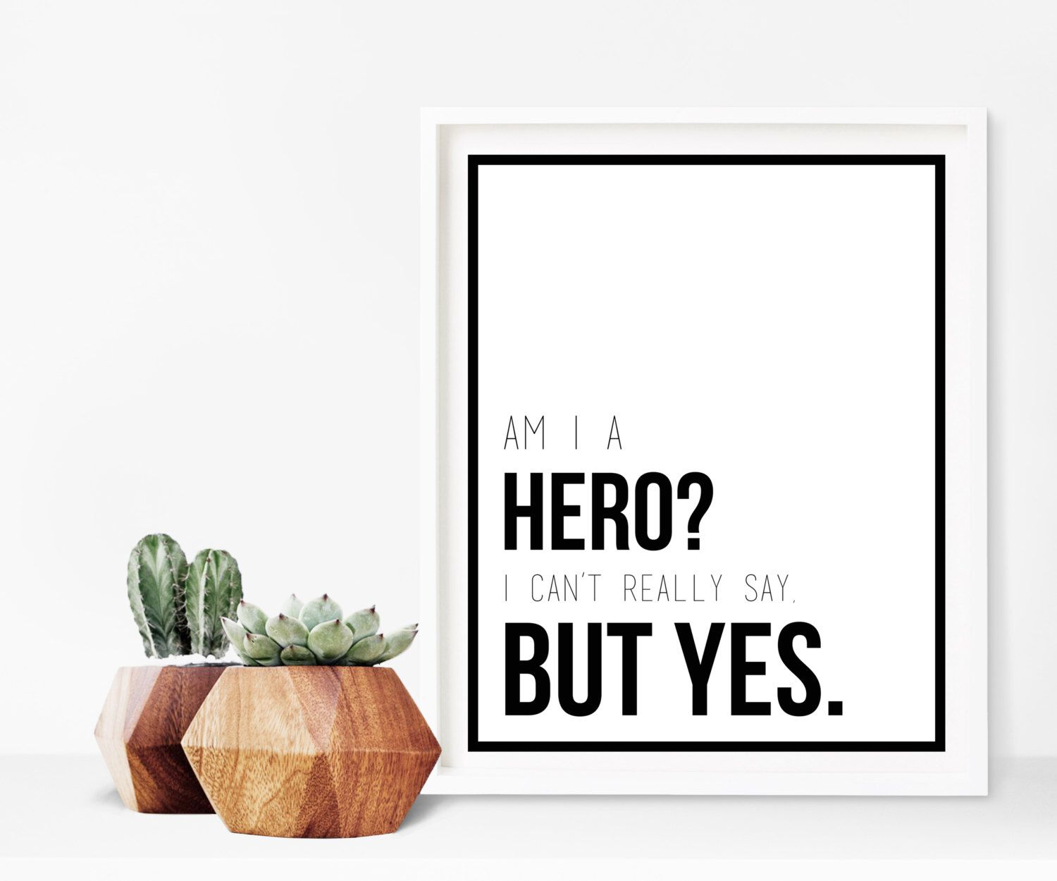 The Office Michael Scott Hero Quote Digital Print by ...