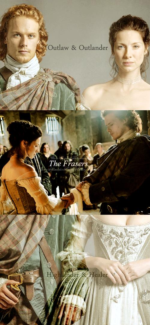 Outlander wedding. Jamie Fraser and Claire Fraser. Source