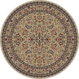 Concord Global Valencia Cream Red Round Indoor Woven Area Rug Common 5 X 5 Actual 63 In W X 63 In L Area Rugs Purple Area Rugs Round Area Rugs
