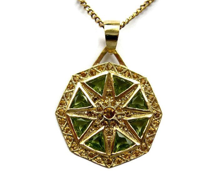 women pendant fashion octagon man unisex jade necklace green uk silver sterling jewellery chain