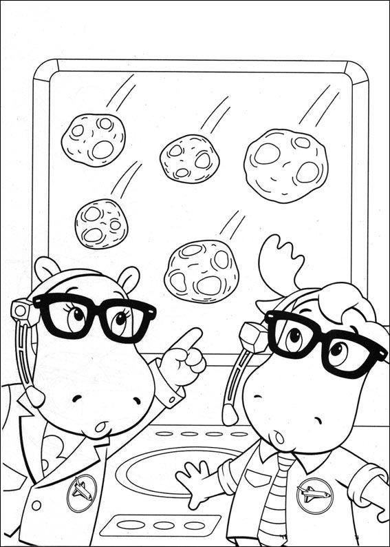 Backyardigans Fargelegging for barn. Tegninger for utskrift og ...