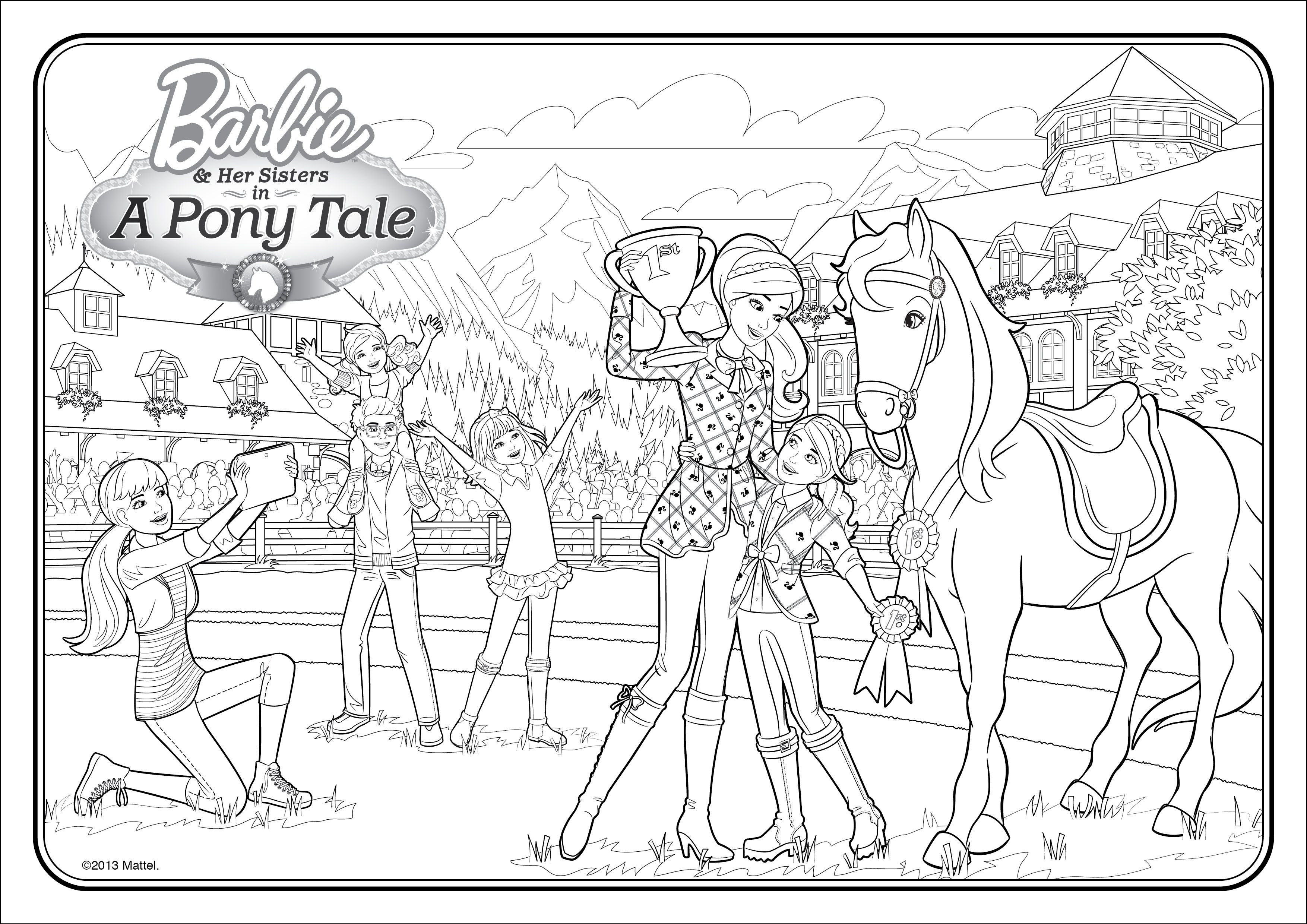 Barbie Life In The Dreamhouse Colouring Pictures Di 2020