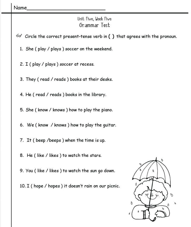 2nd Grade English Worksheets Best Coloring Pages For Kids Grammar Worksheets English Grammar Worksheets 2nd Grade Worksheets