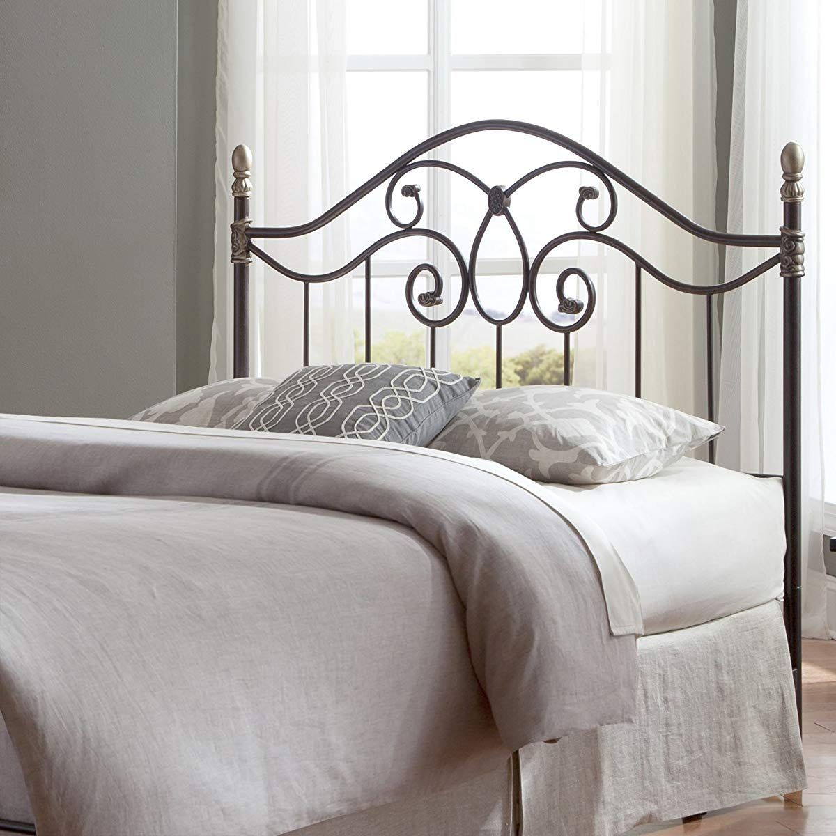 Fashion Bed Group Dynasty Headboard with Arched Metal