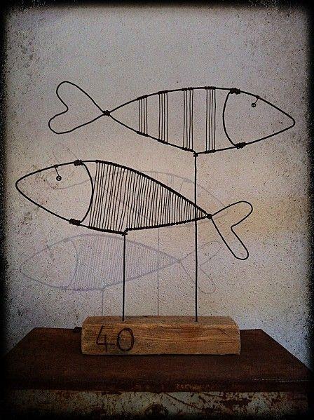 poisson d coration fil de fer petits bricolages art. Black Bedroom Furniture Sets. Home Design Ideas