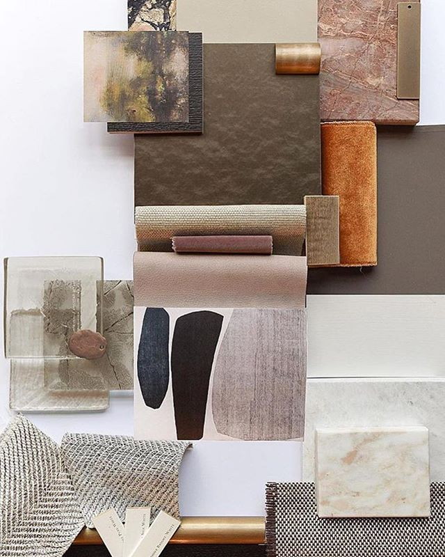 Happy Mood Board Monday Love The Natural Palette Of Colours And Textures In This Interior Design Mood Board Interior Design Color Schemes Mood Board Interior