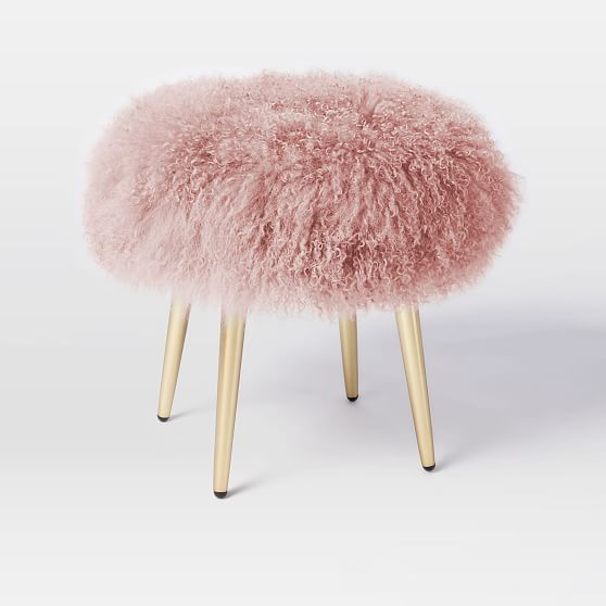 Mongolian Stool Stone White At West Elm Ottomans Stools
