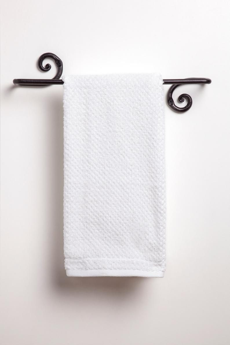 Decorative Towel Bar Forged Iron Towel Holder Decorative Towels