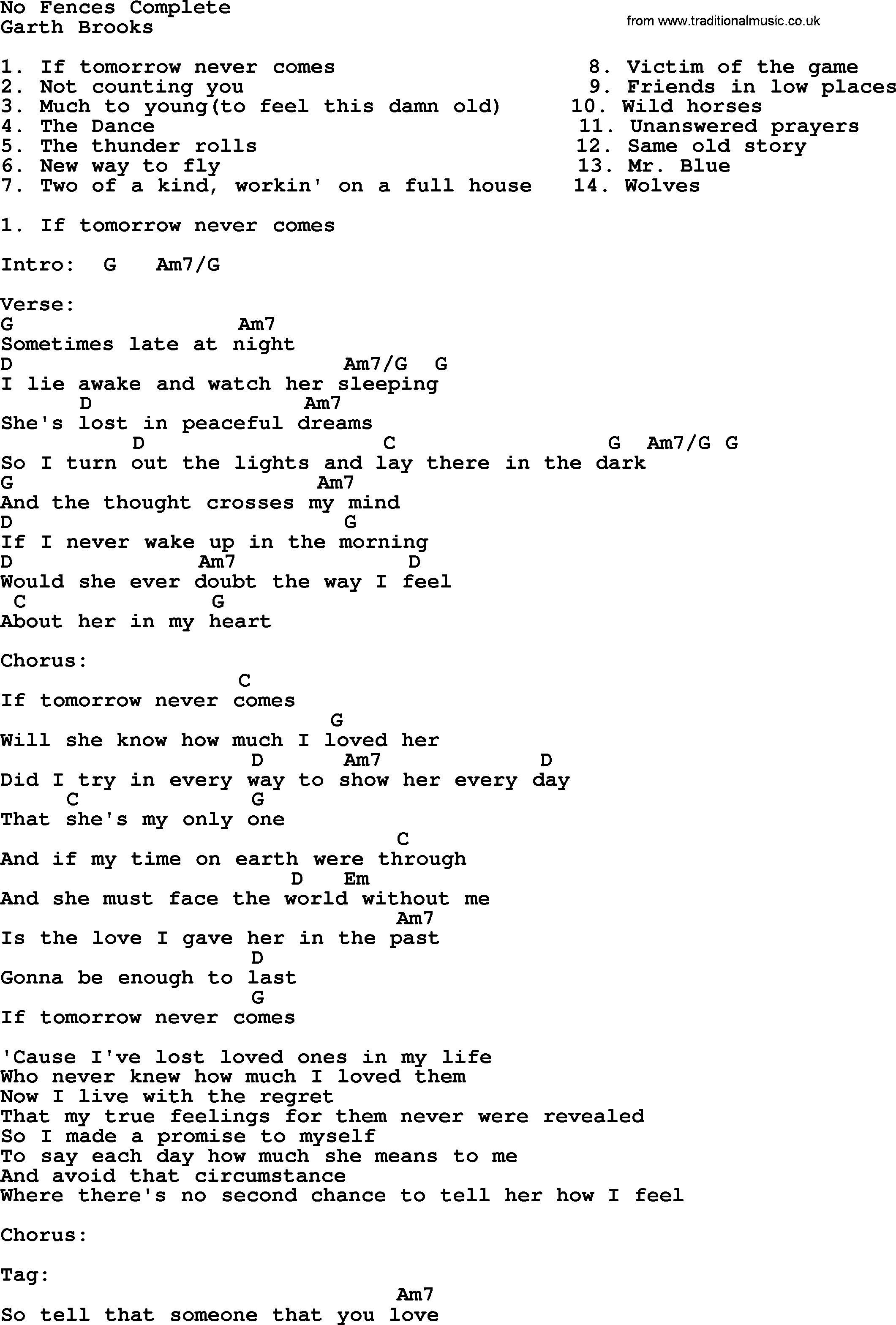 Friends In Low Places Chords Lyrics And Chords