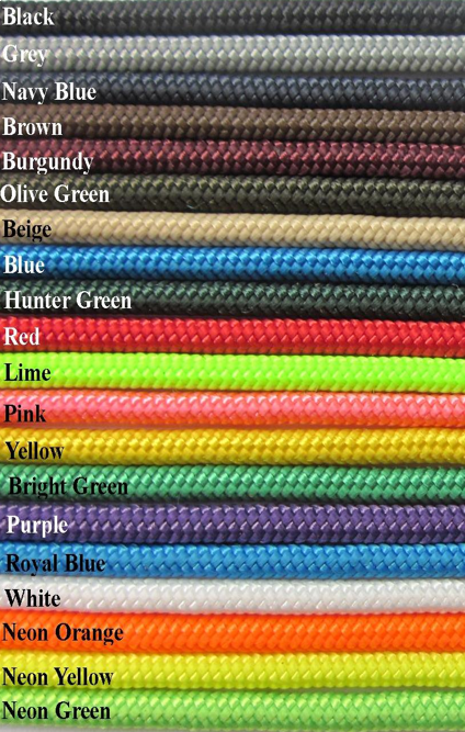 Halter Rope Yacht Braid 1 4 Green And Purple Blue Hunters Rope Halter