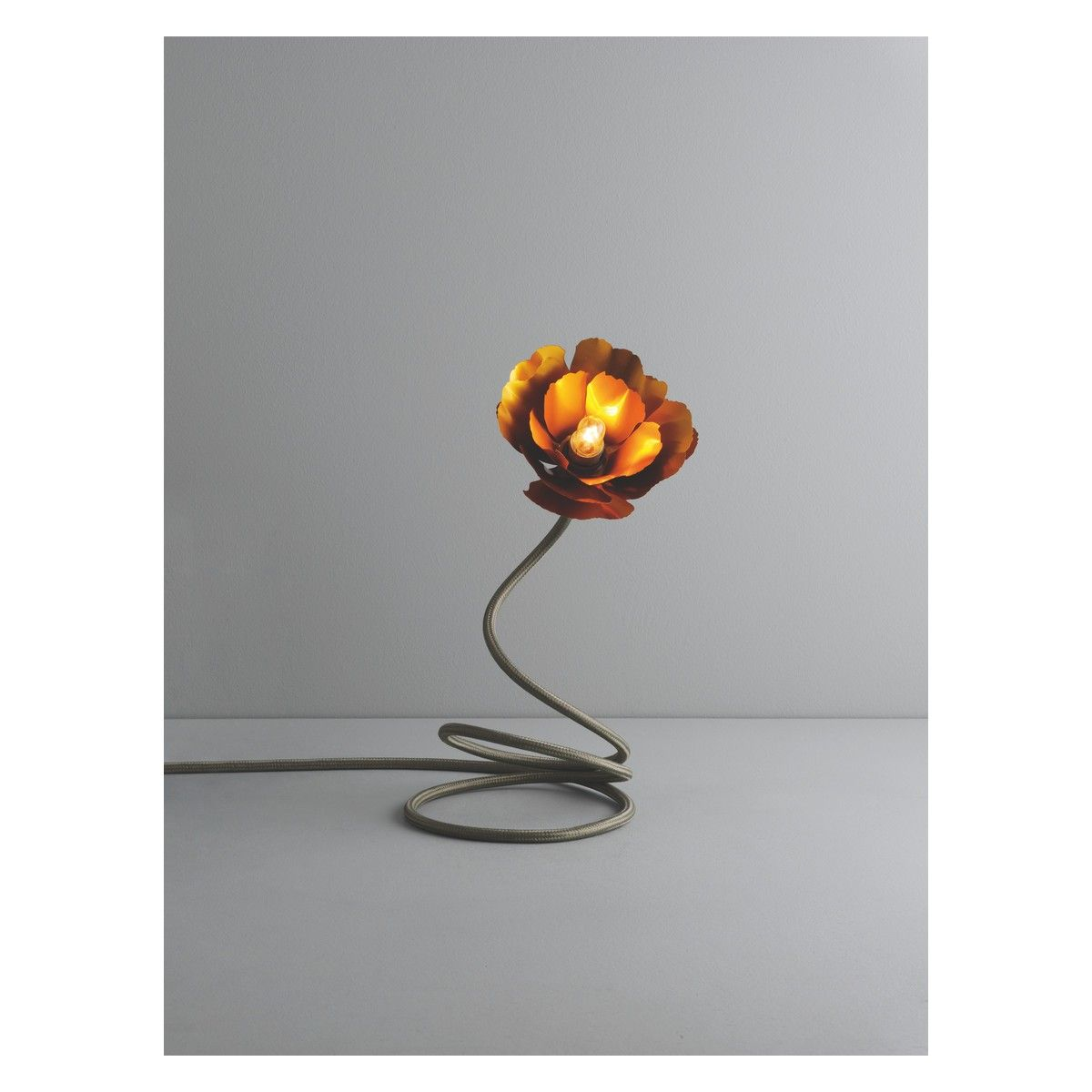Flexible Stemmed Helena Gold Flower Table Lamp Designed By Christensen Exclusively For Habitat Buy Now At UK