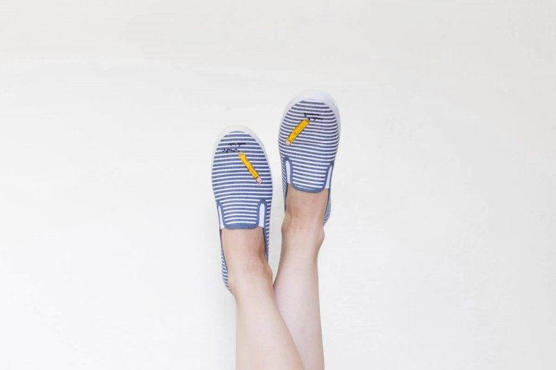 DIY Pencil Sneakers for Back to School | Lovely Indeed