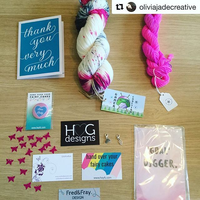 REPOST  Thank you so much to @oliviajadecreative posting this lovely photo of last months #HGDCSockBox which was #GirlBoss themed. Your support means everything  I cant wait to see your shawl and the square added to your cosy memories blanket.  If you want your own box this months listing is live and the link is in my bio. #HGDesignsCrochet #HGDC #SockBox #YarnSubscription #Tribe