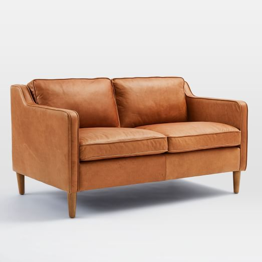 Elegant Hamilton Leather Sofa | West Elm