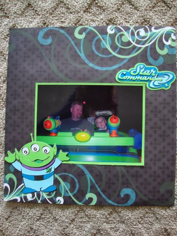 Buzz Lightyear-- Disney scrapbook page