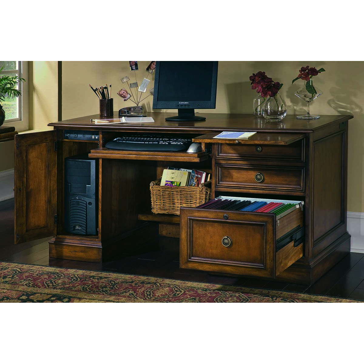 Excellent Hooker Furniture Brookhaven Drawer Desk 281 10 401 Hooker Andrewgaddart Wooden Chair Designs For Living Room Andrewgaddartcom