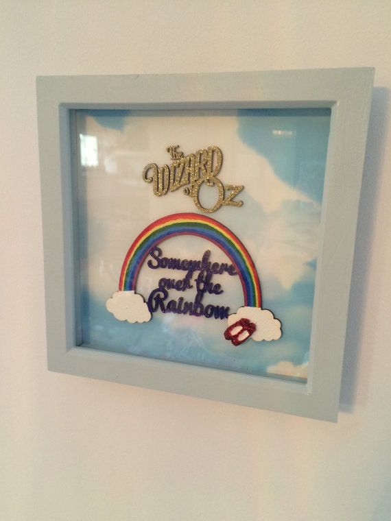 Somewhere over the rainbow wizard of oz box frame | Woods