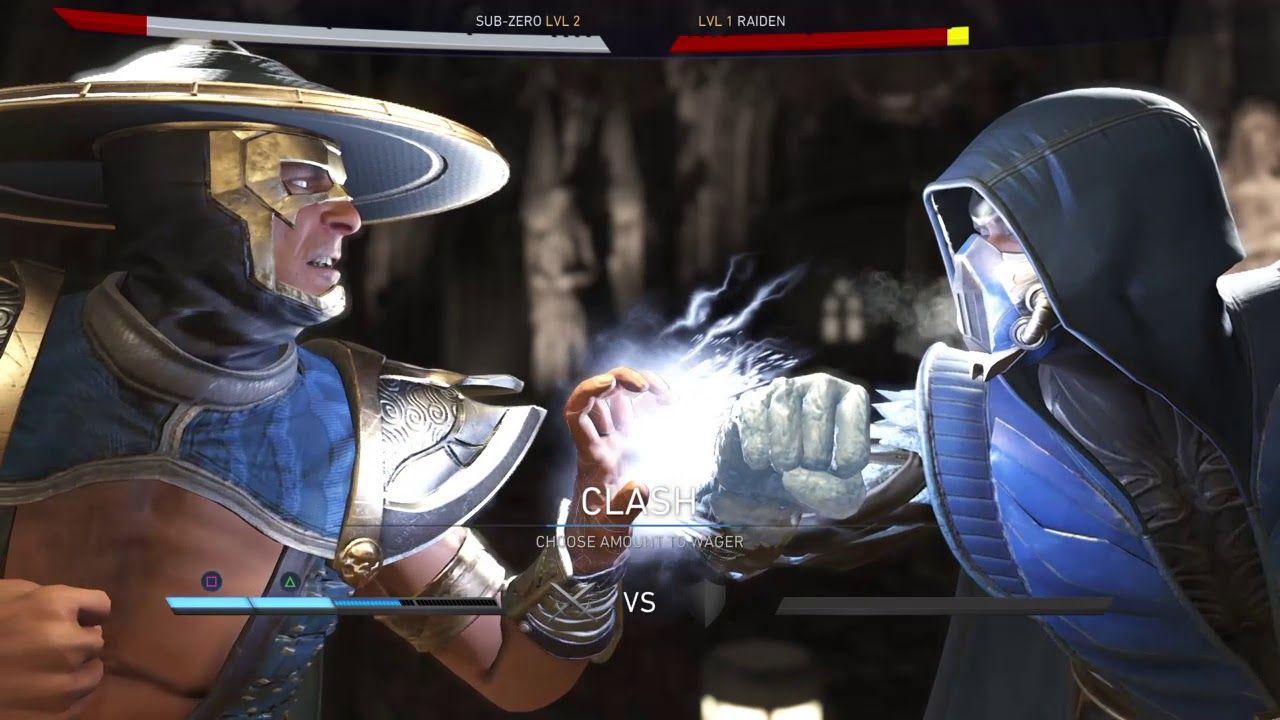 Injustice 2 Sub Zero Vs Raiden Mortal Kombat X Scorpion Injustice 2 Sub Zero