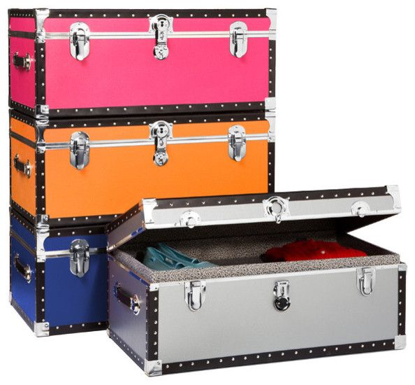 Foot Locker Storage Chest Entrancing Footlocker With Tray Storage Boxes  Camp Wewa  Pinterest  Footlocker Design Decoration