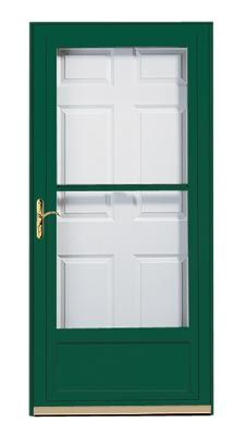 Awesome A Stylish Hartford Green Pella Midview Storm Door Welcomes In Natural Light  While Enhancing Your Homeu0027s