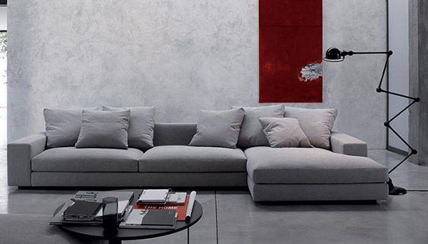 Contemporary Sofas At Espacio Free London Delivery Verzelloni Holden With Chaise Designed By Crd Verzell Sofa Bed Uk Contemporary Sofa Contemporary Sofa Uk