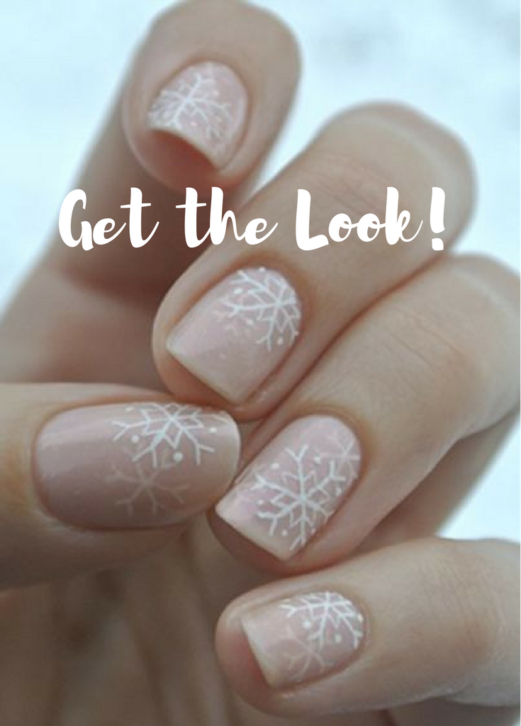 Seasonal nails, snowflake designs #ad, makeup tutorial, ideas, tips ...