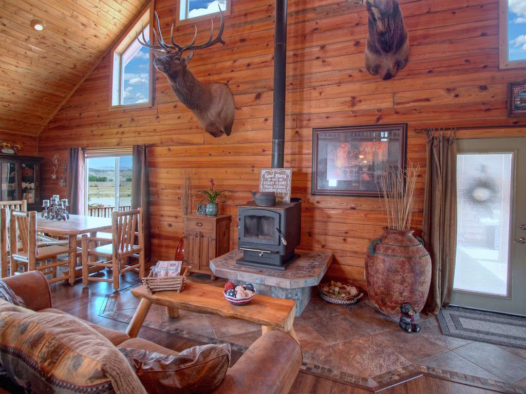 Loft bedroom in garage  Beautiful Log home on  acres Magnificent log home on  usable acres