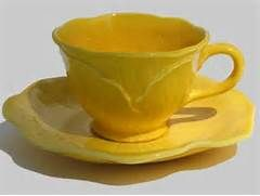 Vintage Canary Yellow Tea cup and saucer