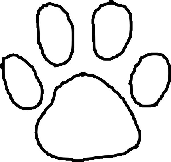 Tiger Paw Print Outline Clip Art Vector Clip Art Online Royalty Huellas Plantas