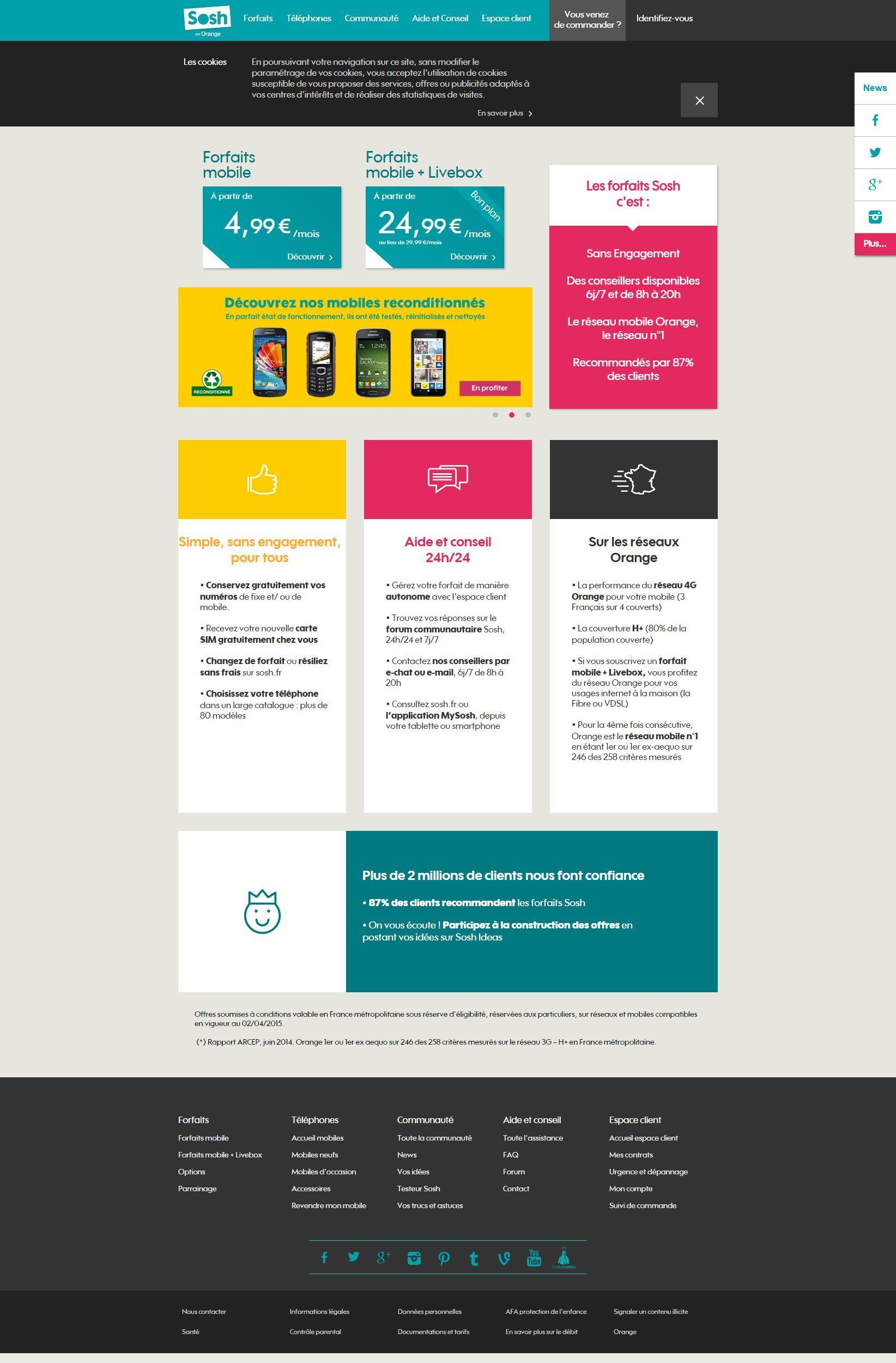Telephones Portables Sans Abonnement Et Forfaits Pas Chers Sans Engagement Forfait Mobile Forfait Offre Mobile