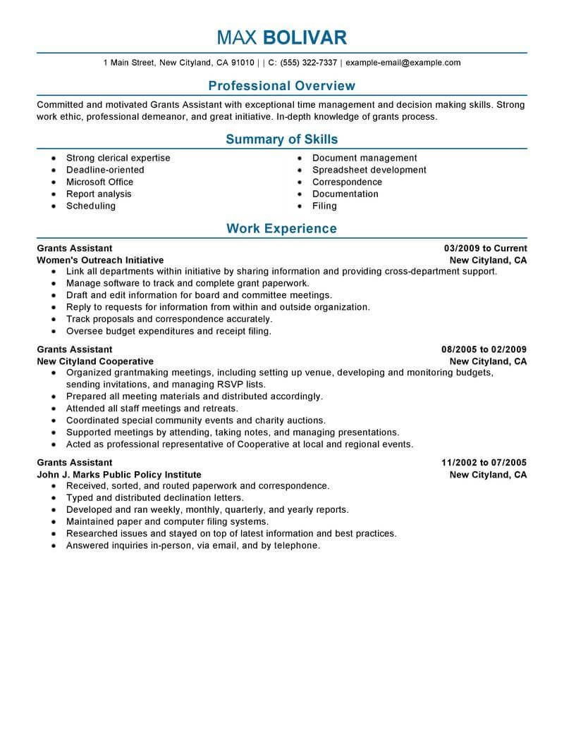 Administrative Assistant Resume Examples, Administrative