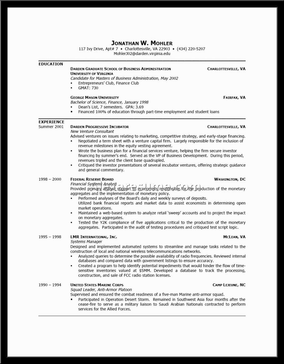 Example Good Resume Format Alexa Examples Resumes Template For