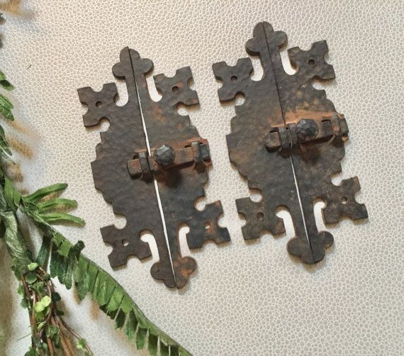 FREE Shipping Qty 4 Vintage HAMMERED Metal by SalvageArtsCreations