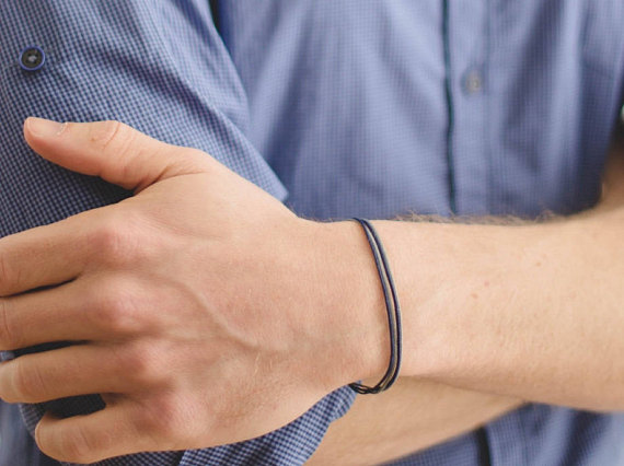 String bracelet customised men's bracelet strand only
