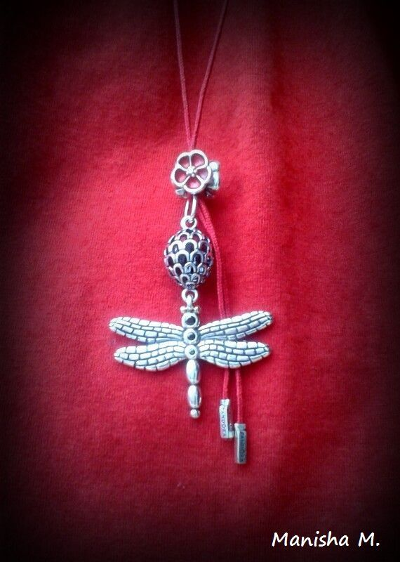 df79551c15d4e I am getting this for myself. PANDORA Dragonfly Pendant with Poppy ...