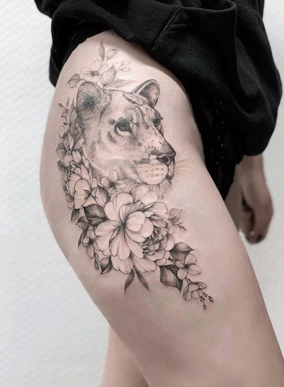 43 Schöne Penoy Flower Tattoo Design-Ideen für Fashion Woman – Seite 29 von 43 … #flower Tattoos  melanie #flowertattoos – flower tattoos – heartattack