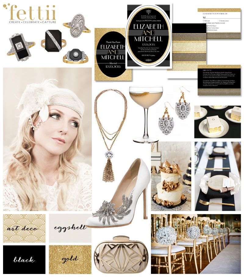 The Great Gatsby inspired wedding inspiration board - we\'re ...